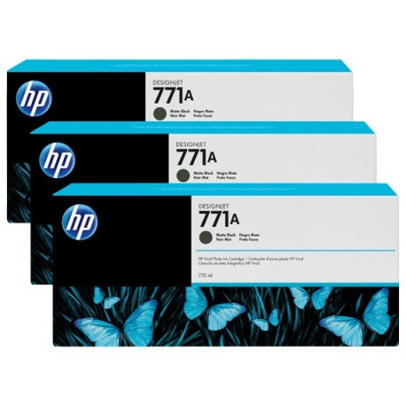 HP 771A 3-pack 775-ml Matte Black