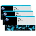HP 771A Matte Black Combo-Pack Original Ink Cartridge (B6Y39A)