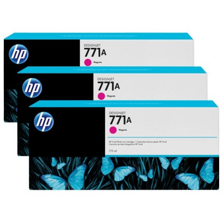 HP 771A 3-pack 775-ml Magenta