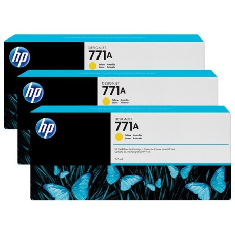 HP 771A 3-pack 775-ml Yellow