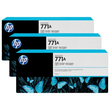 HP 771A 3-pack 775-ml Photo Black