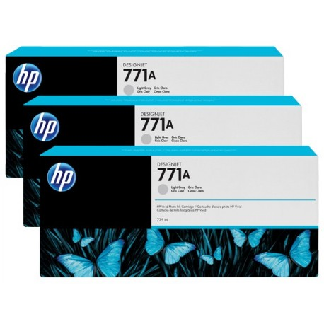 HP 771A 3-pack 775-ml Light Gray