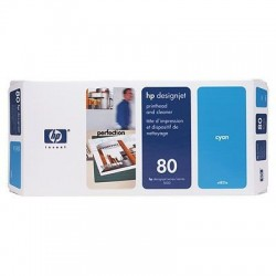 HP 80 Cyan Printhead and Printhead Cleaner (C4821A)