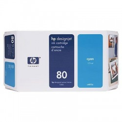 HP 80 Cyan Original Ink Cartridge (C4846A)
