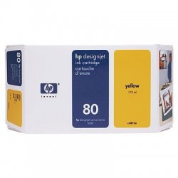 HP 80 Yellow Original Ink Cartridge (C4873A)