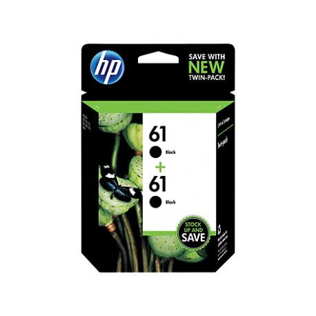 HP 61 2-pack Black Original Ink Cartridges