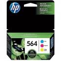 HP 564 Cyan, Magenta & Yellow Original Ink Cartridges, 3/Pack (N9H57FN)