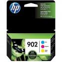 HP 902 Cyan, Magenta & Yellow Original Ink Cartridges, 3/Pack (T0A38AN)