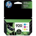 HP 920 Cyan, Magenta & Yellow Original Ink Cartridges, 3/Pack (N9H55FN)