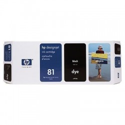 HP 81 Black Original Ink Cartridge (C4930A)