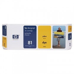 HP 81 Yellow Original Ink Cartridge (C4933A)