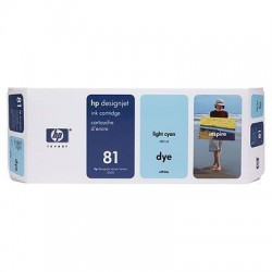 HP 81 Light Cyan Original Ink Cartridge (C4934A)
