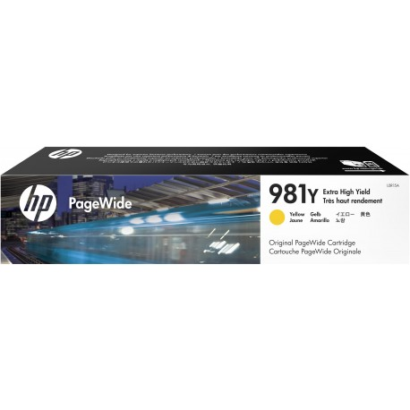 HP 981Y Yellow Extra High Yield Original PageWide Cartridge (L0R15A)