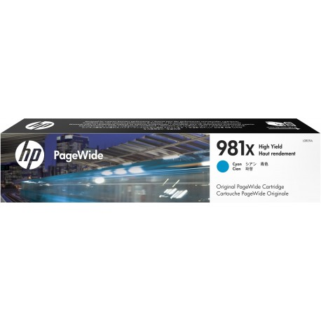 HP 981X Cyan High Yield Original PageWide Cartridge (L0R09A)