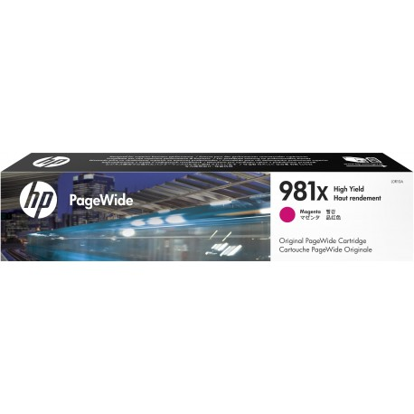 HP 981X Magenta High Yield Original PageWide Cartridge (L0R10A)