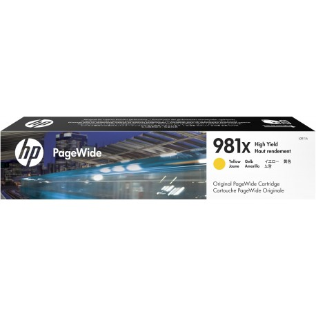 HP 981X High Yield Yellow Original PageWide Cartridge, L0R11A