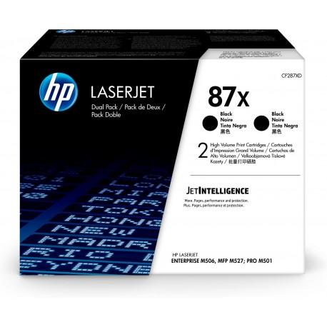HP 87X 2-pack High Yield Black Original LaserJet Toner Cartridges