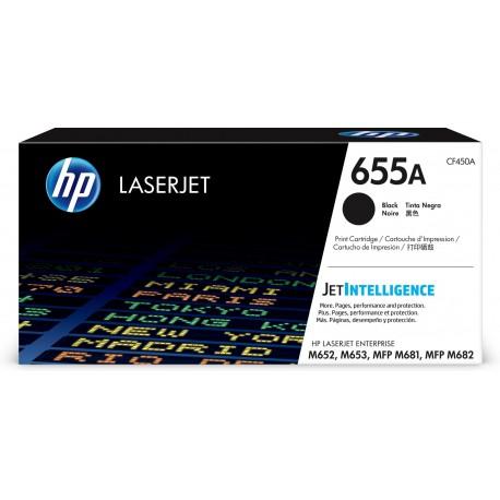 HP 655A Black Original LaserJet Toner Cartridge, CF450A