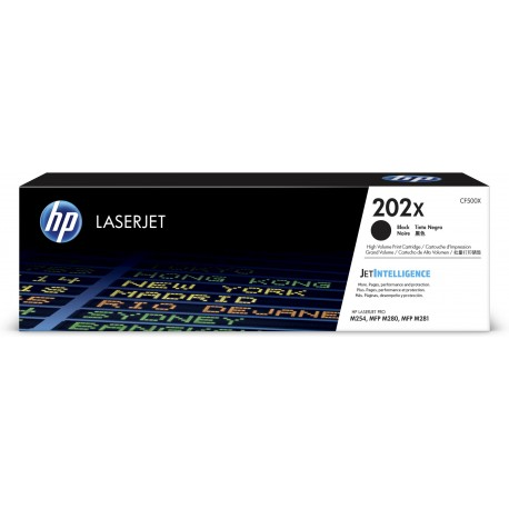 HP 202X (CF500X) Black High Yield Original LaserJet Toner Cartridge