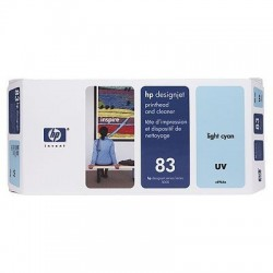 HP 83 Light Cyan UV Printhead and Printhead Cleaner (C4964A)
