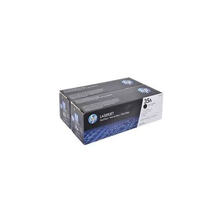 HP CB435D Double Pack Black Original Toner Cartridge