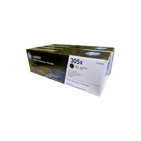 HP CE410XD Double Pack High Yield Black Original Toner