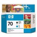 HP 70 Matte Black/Cyan Printhead Original Ink Cartridge (C9404A)