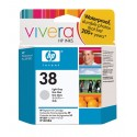 HP 38 Light Grey Original Ink Cartridge (C9414A)