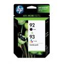 HP 92/93 Black/Tri-Color Combo-Pack Original Ink Cartridge (C9513FN)